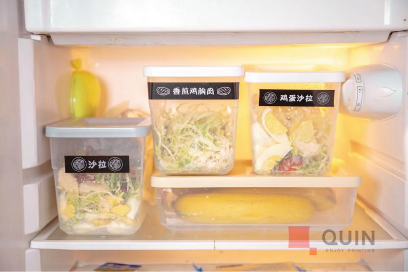 用趣印标签打印机标识食材
